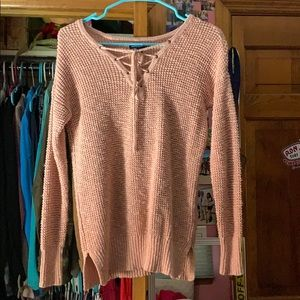 little pink American eagle sweater
